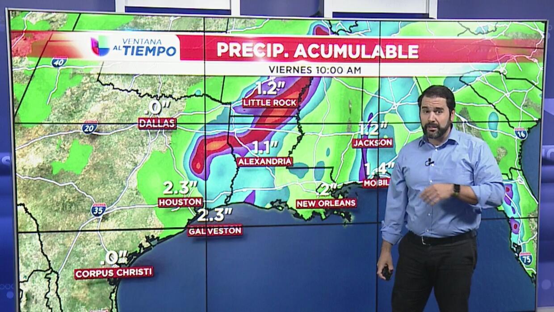 La tormenta Cindy fue degradada a depresión tropical después de tocar ti...