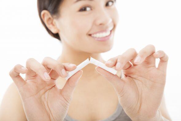 Prohibido fumar. El cigarrillo puede aumentar tus chances de padecer cat...