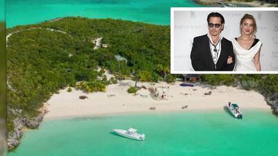 Mira la isla privada donde se casó Johnny Depp con Amber Heard