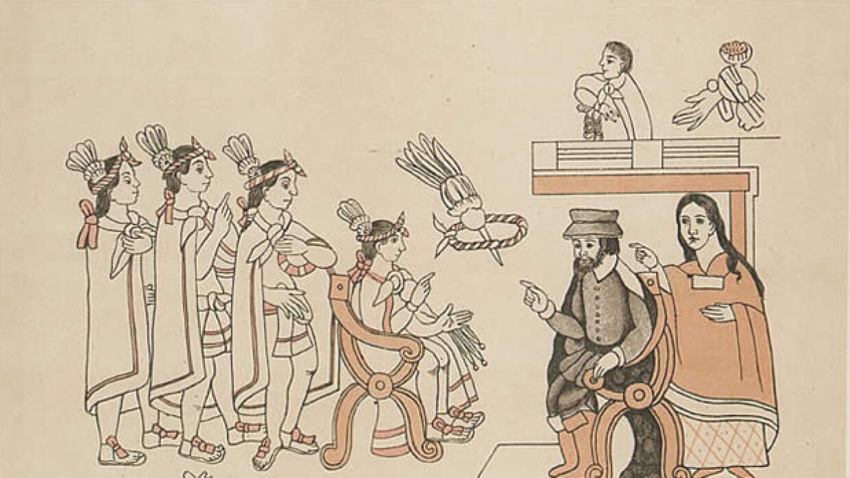 Hernán Cortés en Tenochtitlan