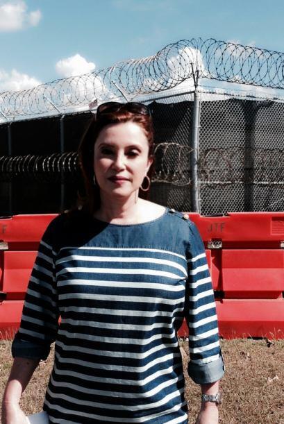Aquí Lourdes Del Río durante su investigación.