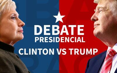 Primer debate presidencial: Clinton vs. Trump