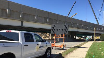 Imágenes de la zona donde ocurrió el accidente en la I-90