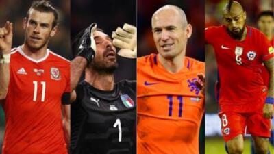 Cracks que no podremos disfrutar en la Copa del Mundo de Rusia 2018