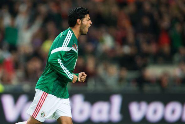 Con este tanto Carlos Vela volvía a anotar un gol con México luego de 13...