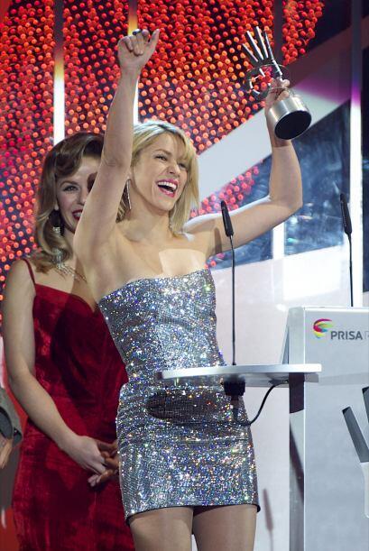 Shakira resultó ganadora de los premios Artista Latino más...