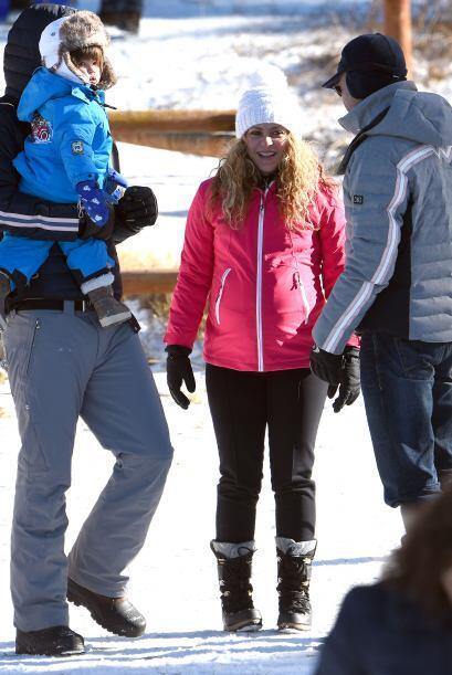 La cantante se tomó unas merecidas vacaciones para disfrutar de la nieve...