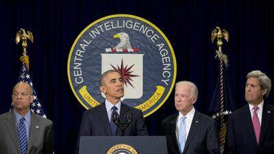 Obama visitó el cuartel general de la CIA