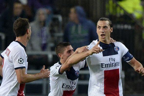 'Ibra' comandó el triunfo parisino y junto con el gol de Edinson Cavani...