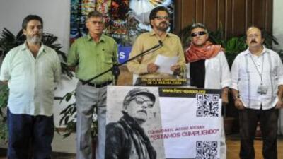 La delegación de las FARC.