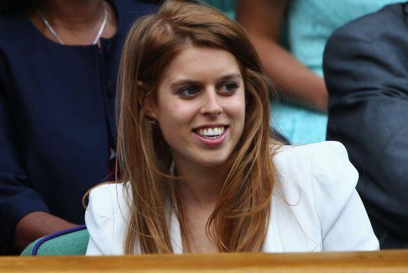 La Princesa Beatrice tambièn estuvo presente en las semifinales de Wimbl...