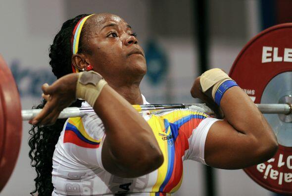 La colombiana Ubaldina Valoyes ganó un par de medallas de oro en...