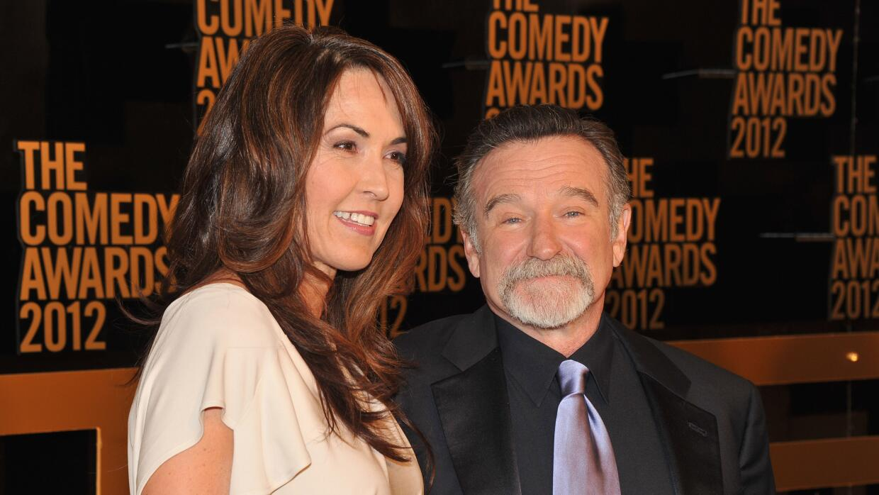 Robin Williams y Susan Schneider