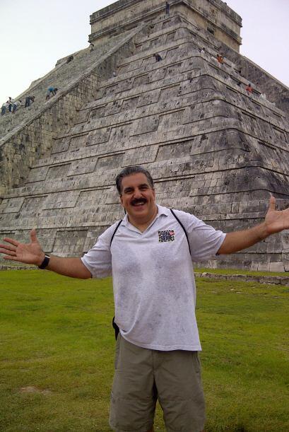 El Presidente visitó las ruinas de Chichén Itzá par...