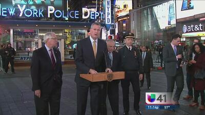 """""""No hay amenaza creíble contra NY"""": De Blasio"""