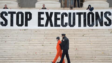 Protesta contra la pena capital en enero en la Corte Suprema de Justicia...
