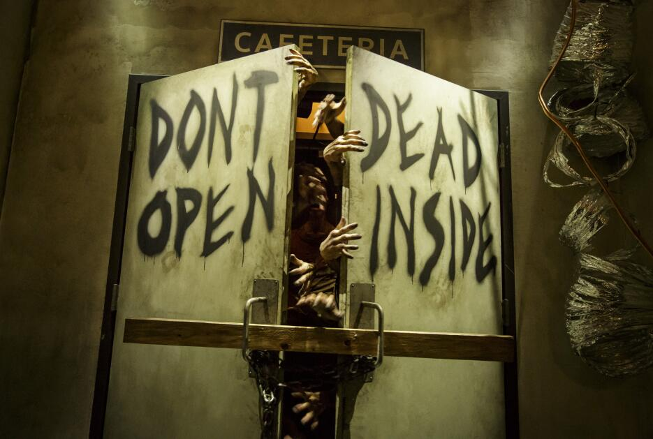 "Decorado de ""The Walking Dead"" en Universal Studios Hollywood."