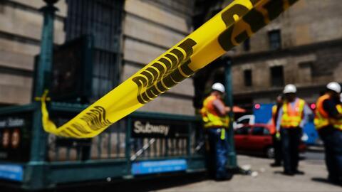 Siguen reparaciones tras descarrilamiento de un tren en el alto Manhattan