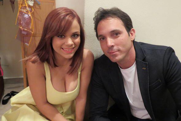 Ana Cristina con Raúl Rodríguez.