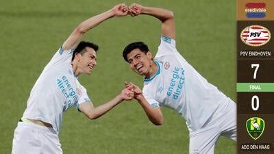 ¡Viva México! Unos brillantes 'Chucky' Lozano y Erick Gutiérrez comandaron goleada del PSV