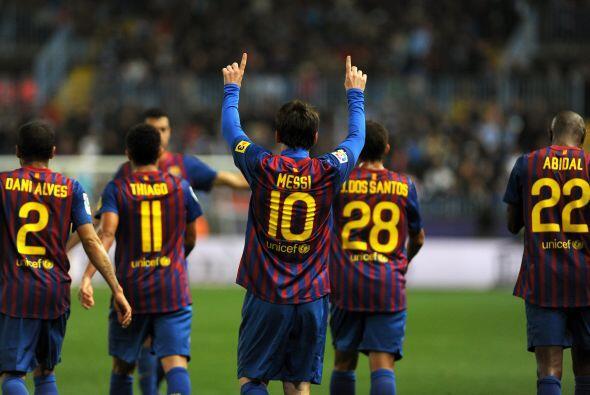 Lionel estaba sumando sus goles 20 y 21, con los que empataba a Cristian...