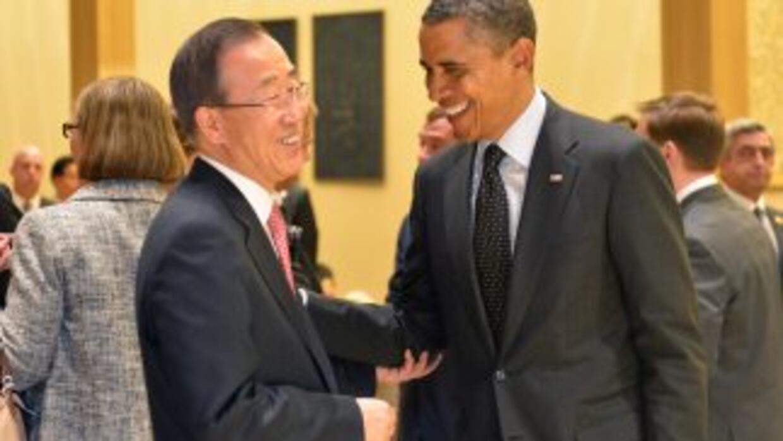 Obama y Ban mantendrán un encuentro en el Despacho Oval de la Casa Blanca.