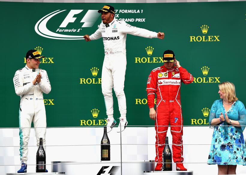 Lewis Hamilton gana por cuarta vez consecutiva el GP de Gran Bretaña Ham...