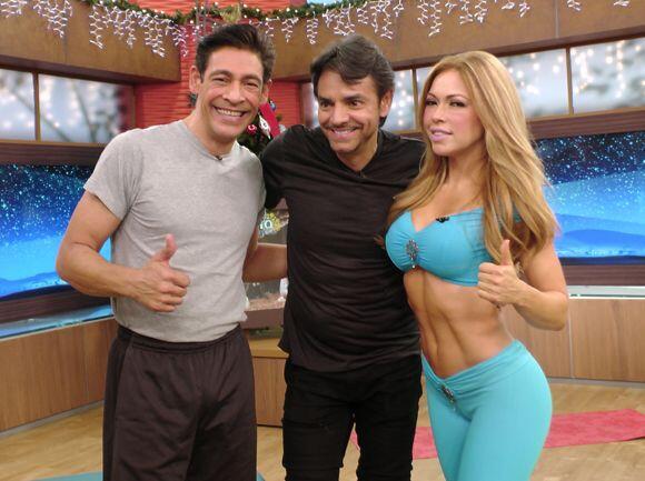 Después de tanto ejercicio, Johnny Lozada y Eugenio Derbez se tomaron ju...