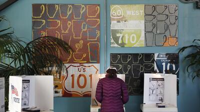 En fotos: así transcurrió otra elección en Los Ángeles