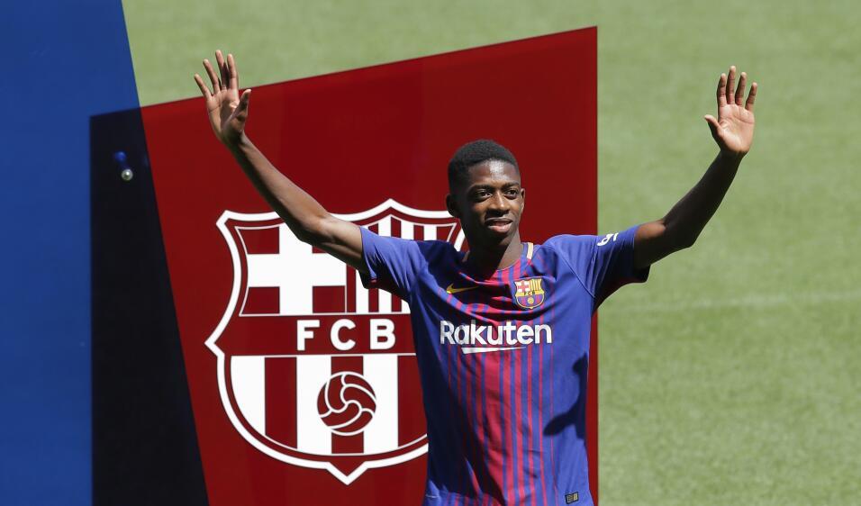 Ousmane Dembélé vuelve a los entrenamientos con Barcelona AP_17240471212...