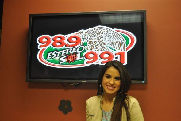 Vanessa disfrutó su visita a las emisoras de San Francisco, Oakla...