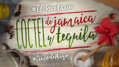 Camino al Cinco de Mayo: coctel de jamaica y tequila