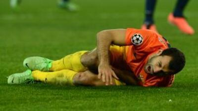 El jugador argentino no pudo completar el partido.