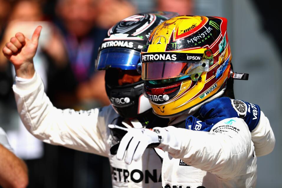 Hamilton gana en Monza y es nuevo líder, Vettel fue tercero Valtteri Bot...