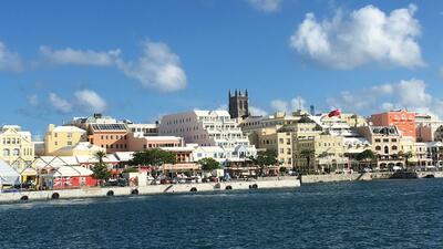View of Hamilton, Bermuda.