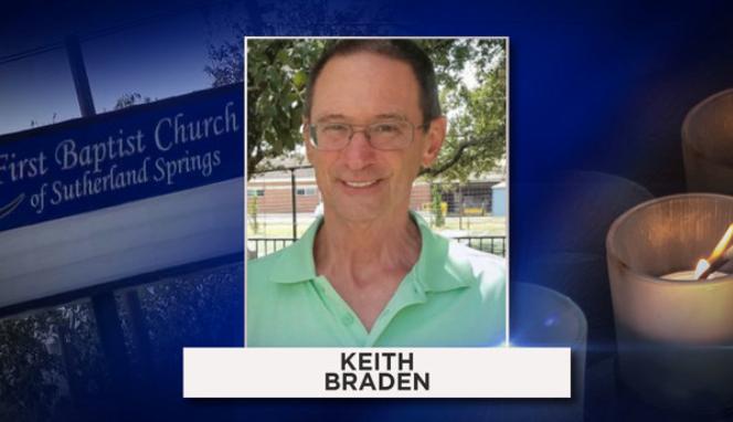 Keith Allen Braden, de 62 años. Eran asistentes asiduos de la igl...