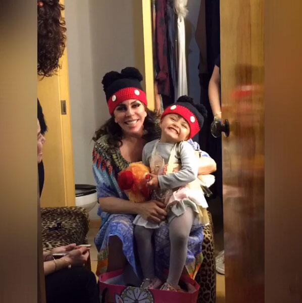Verónica Castro y su nieta Rafaela