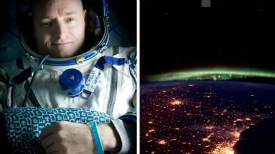 Astronauta Kelly y Chicago
