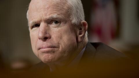 La oficina del senador informó en un comunicado de prensa que McCain y s...