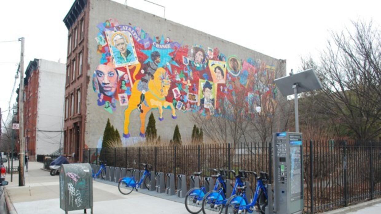Una estación de bicicletas de Citi Bike en Brooklyn.
