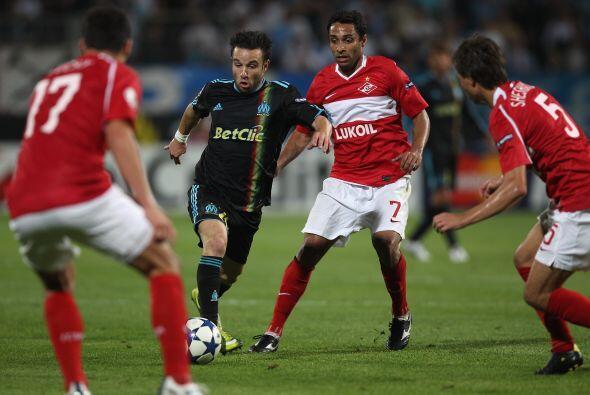El campeón de Francia, Marsella, recibió al Spartak ruso.