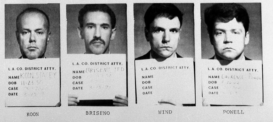 Los cuatro policías acusados de golpear brutalmente al afroamericano Rod...