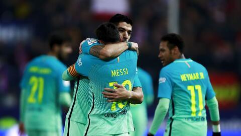 Atlético de Madrid cayó 1-2 ante Barcelona.