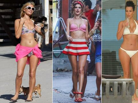 Con tanto calor las celebridades más sexys se han despojado de su...