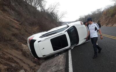 Luis Alfonso Partida 'El Yaqui', sufrió aparatoso accidente  al volcar,...