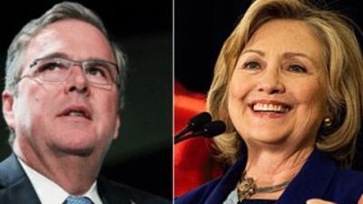 El ex gobernador de Florida, Jeb Bush, y la ex Secretaria de Estado de E...