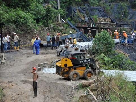 La explosión en una mina de carbón en el  norte de Colombi...