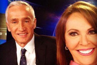 María Elena Salinas y Jorge Ramos también se sacan una 'selfie'