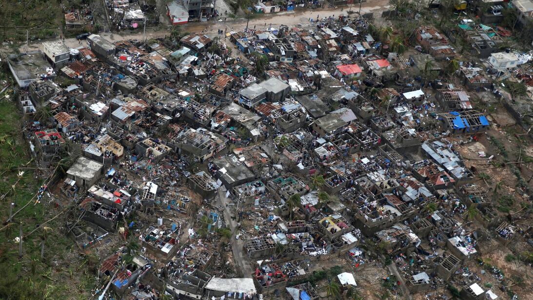 Hurricane Matthew passed over the colonial coastal city of Jeremie on Tu...