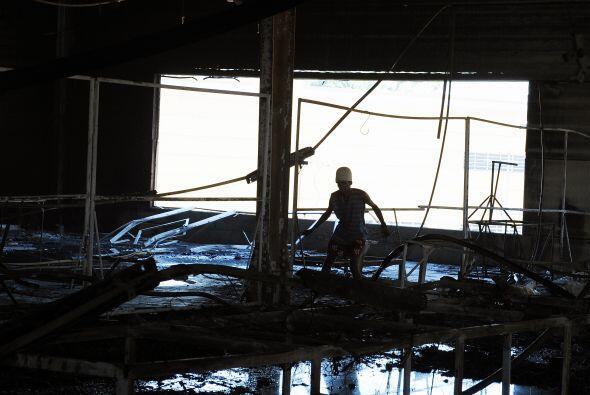 Las pérdidas del incendio afortunadamente sólo fueron materiales. Ardier...